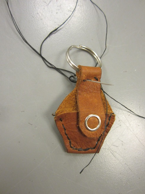 Sewing the Key Ring into the Strap